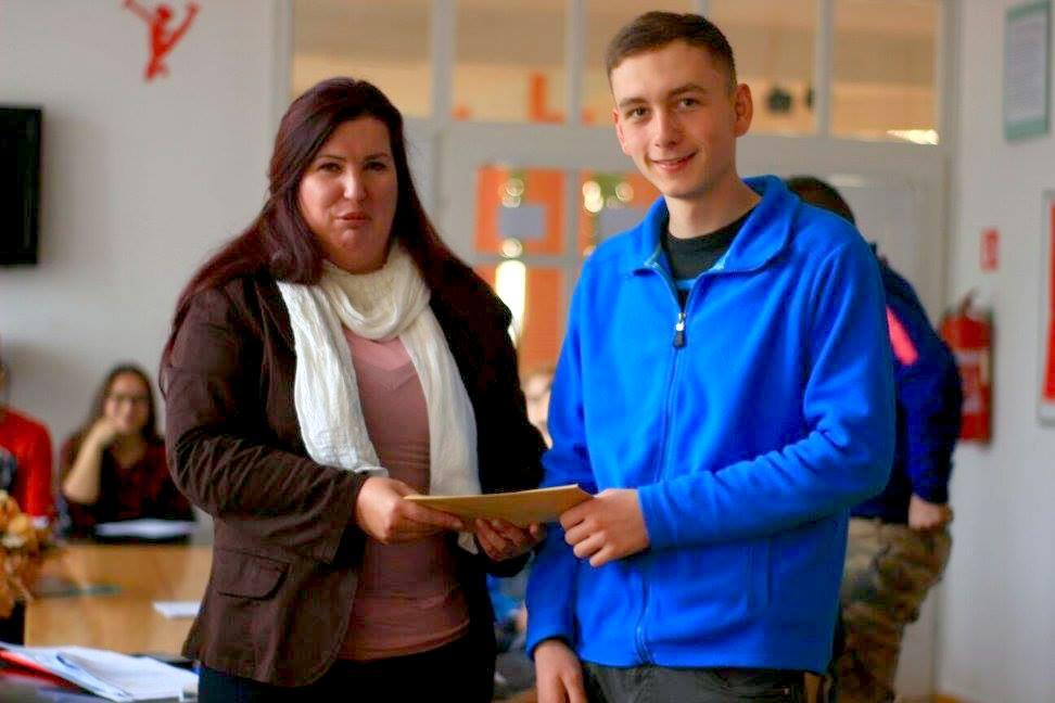 Čazma - Predsjednica  Savjeta mladih posjetila Srednju školu u Čazmi