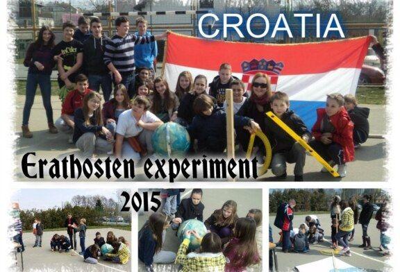 """I. osnovna škola Bjelovar prvi puta sudjelovala u svjetskom projektu """"Erathosten experiment"""""""