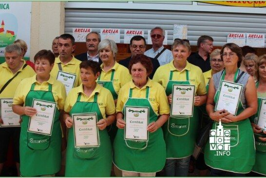 Župan Bajs i gradonačelnik Korušec uručili 39 certifikata – PROIZVODI HRVATSKOG SELJAKA