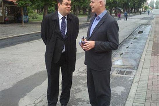 Jozo Radoš, HNS-ov  kandidat za EU parlament posjetio Bjelovar