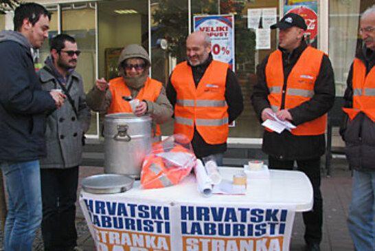 Hrvatski laburisti na bjelovarskom korzu