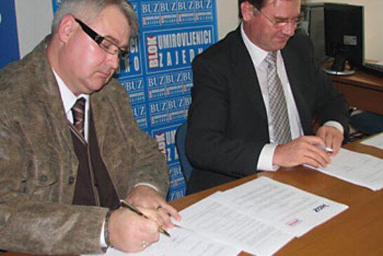 HDZ potpisao koaliciju sa Blokom umirovljenika zajedno