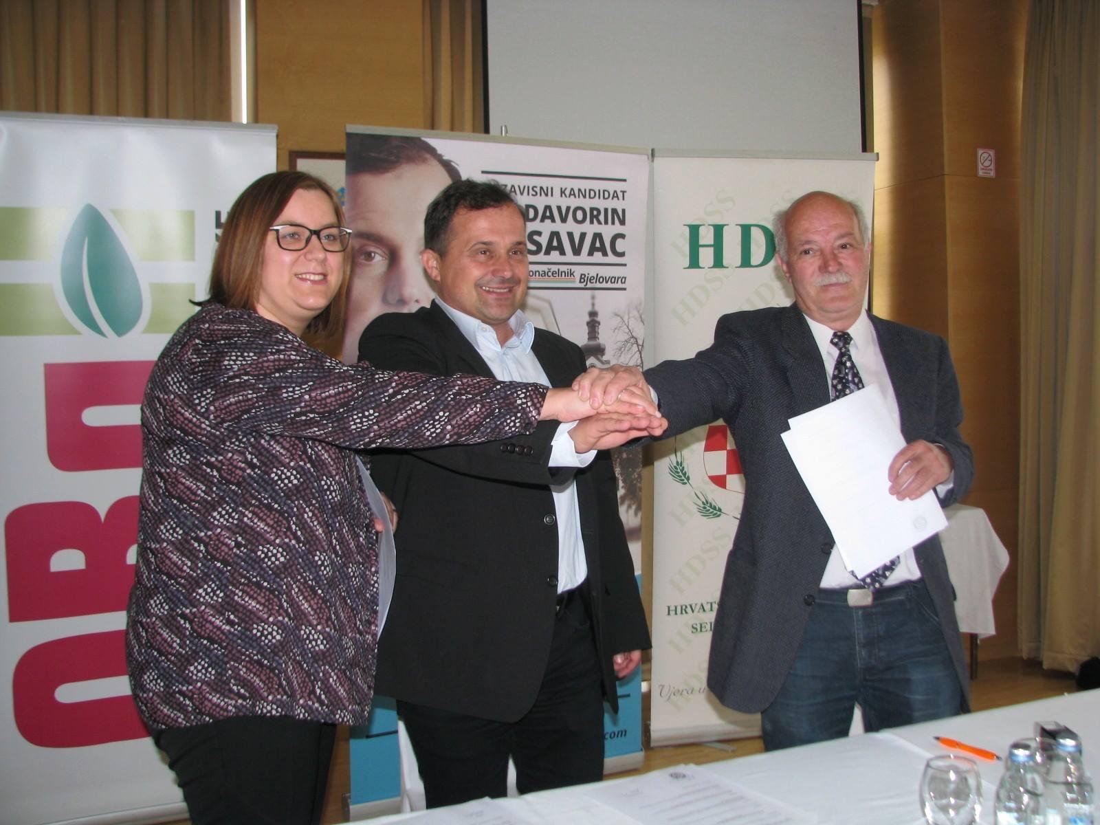 Davorina Posavca za gradonačelnika grada Bjelovara podržao HDSS i ORaH