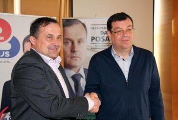 Sporazum potpisali kandidat za gradonačelnika Davorin Posavac i Stranka Damir Bajs nezavisna lista