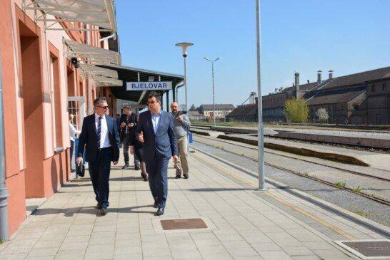 Župan Bajs i direktor Frdelja razgovarali o boljoj željezničkoj povezanosti Bjelovara i Zagreba