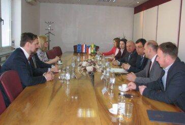Delegacija Južnomoravske regije Republike Češke na prijemu kod župana