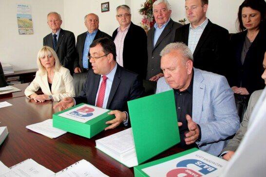 DAMIR BAJS prvi predao kandidacijsku listu za župana Bjelovarsko-bilogorske županije