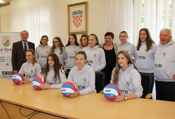 Grad Bjelovar organizirao prijem za Ženski odbojkaški klub Bjelovar