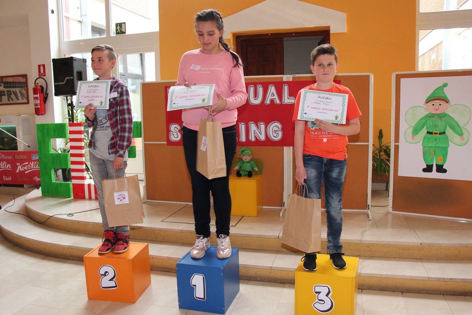 I. osnovna škola Bjelovar bila je domaćin 1. gradskog  natjecanje u sricanju na engleskom jeziku