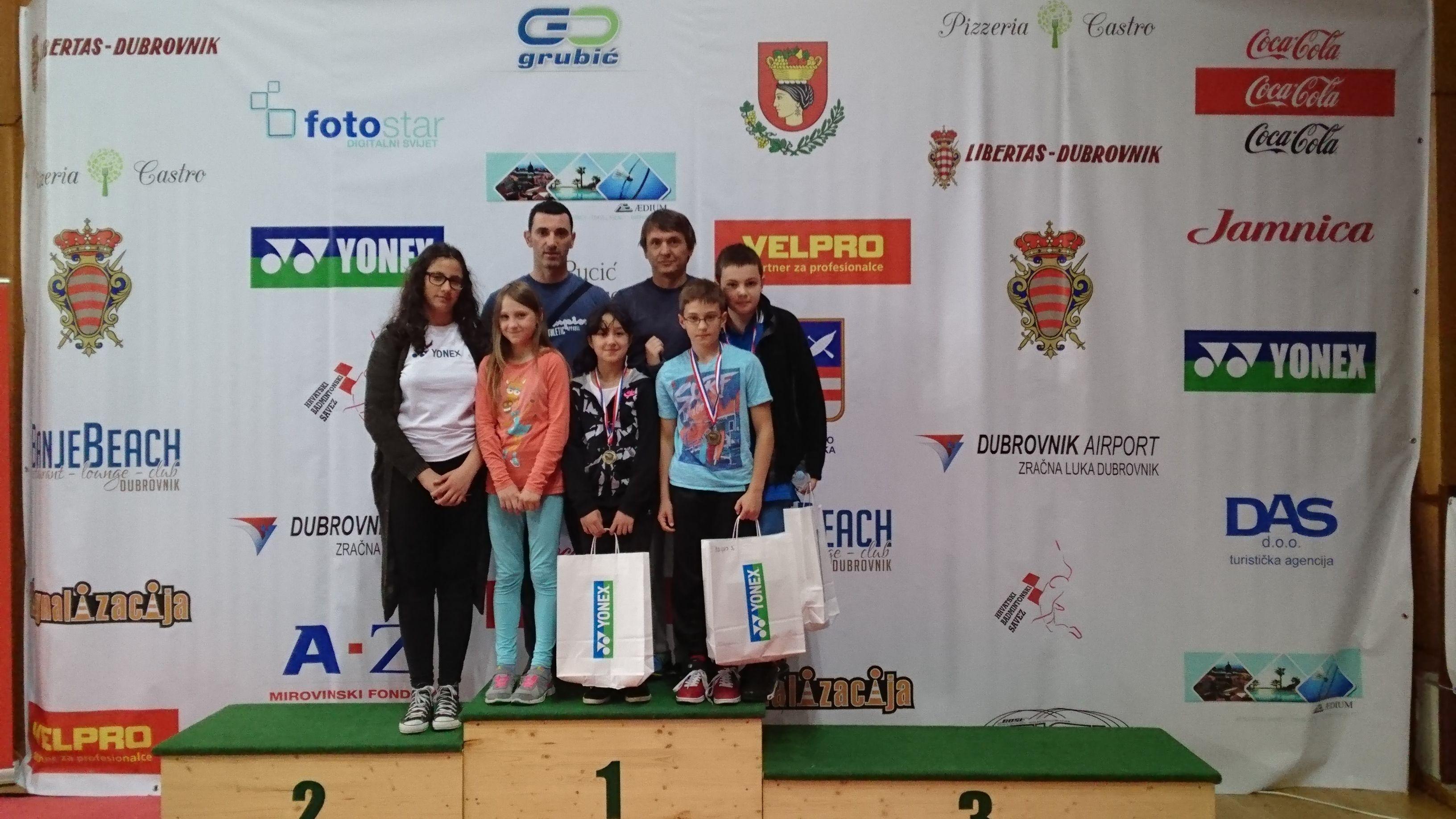 Na međunarodnom badminton turniru u Dubrovniku sudjelovao i badminton klub Bjelovar