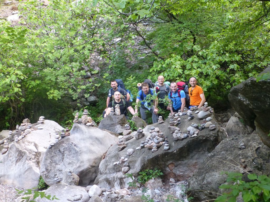 Ekipa u kanjonu Male Paklenice