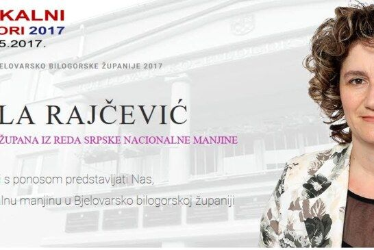 MIRELA RAJČEVIĆ – kandidatkinja za zamjenicu župana za Srpsku nacionalnu manjinu
