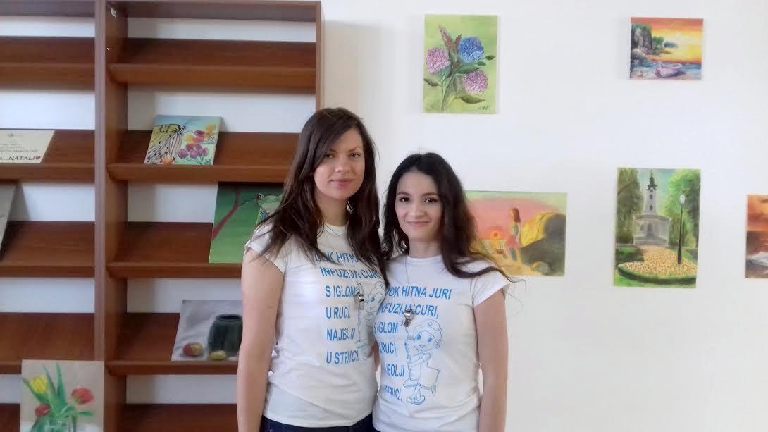 Maturantica Natali Dorotea Manojlović za oproštaj pripremila izložbu svojih ulja na platnu i pastela