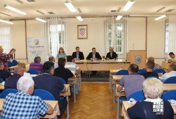 Gradonačelnik Bjelovara Dario Hrebak sastao se s predstavnicima mjesnih odbora, gospodarstvenicima, malim poduzetnicima i obrtnicima