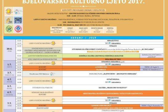Počinje Bjelovarsko kulturno ljeto 2017.