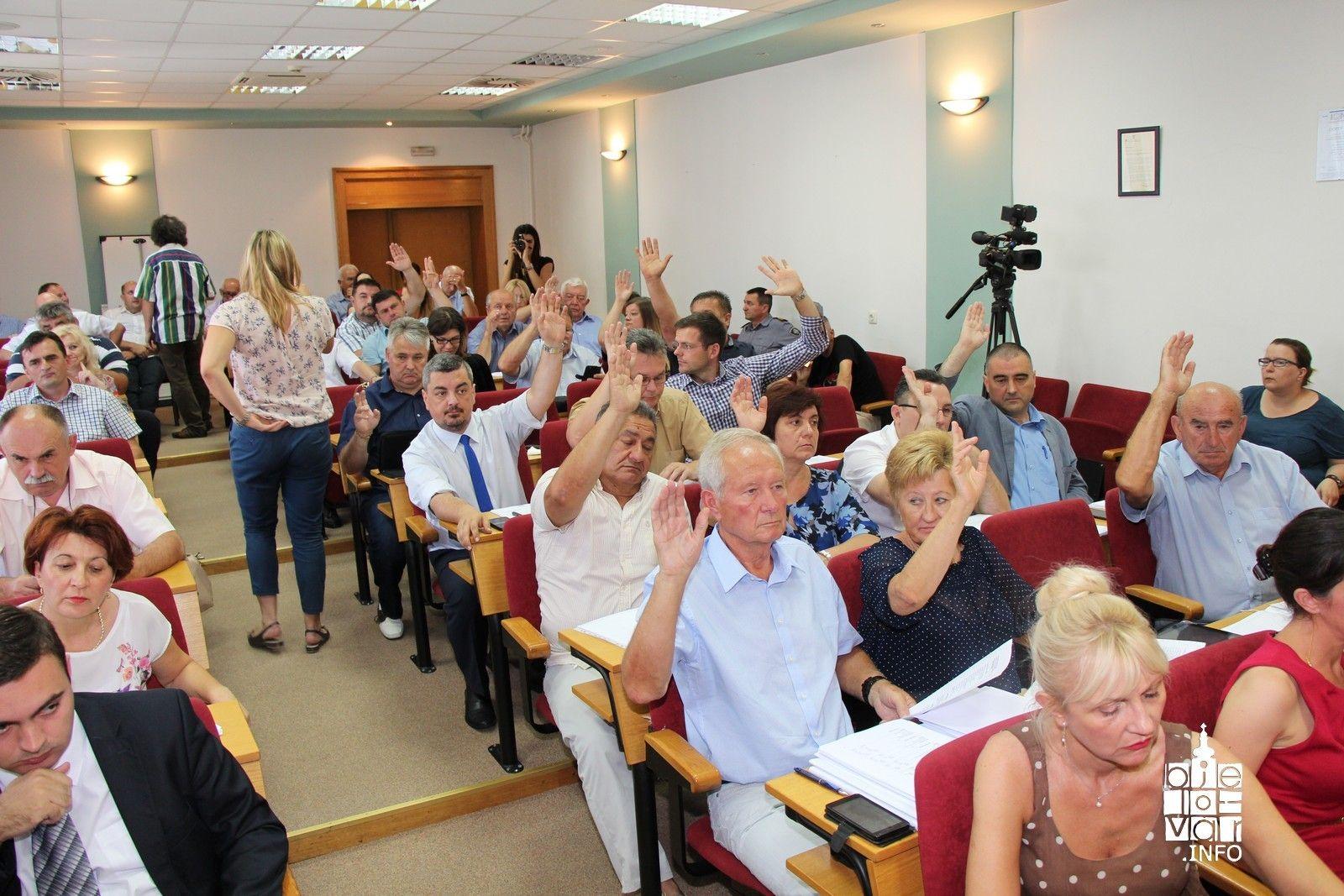 Prihvaćanje Izvješća o radu župana Bjelovarsko-bilogorske županije izazvalo burnu reakciju oporbe HDZ-a i HSS-a