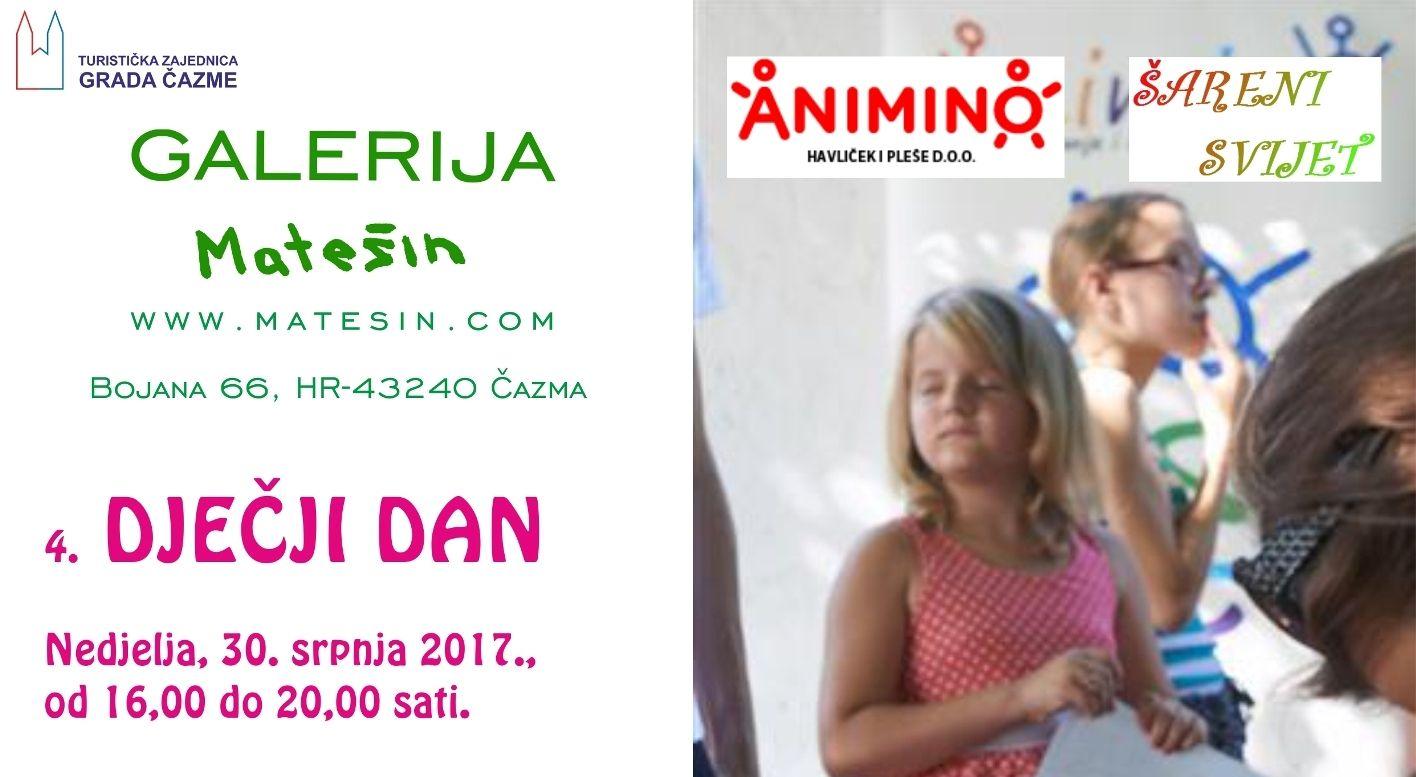 4. Dječji dan, Galerija Matešin, Bojana, 30. srpnja