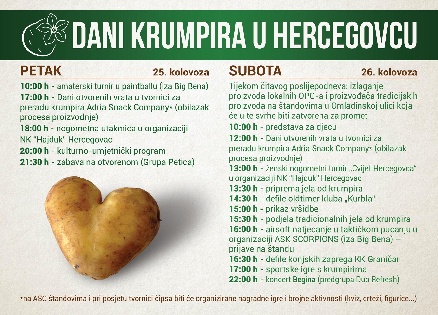 DANI KRUMPIRA U HERCEGOVCU - spoj gastronomije, kulture i zabave