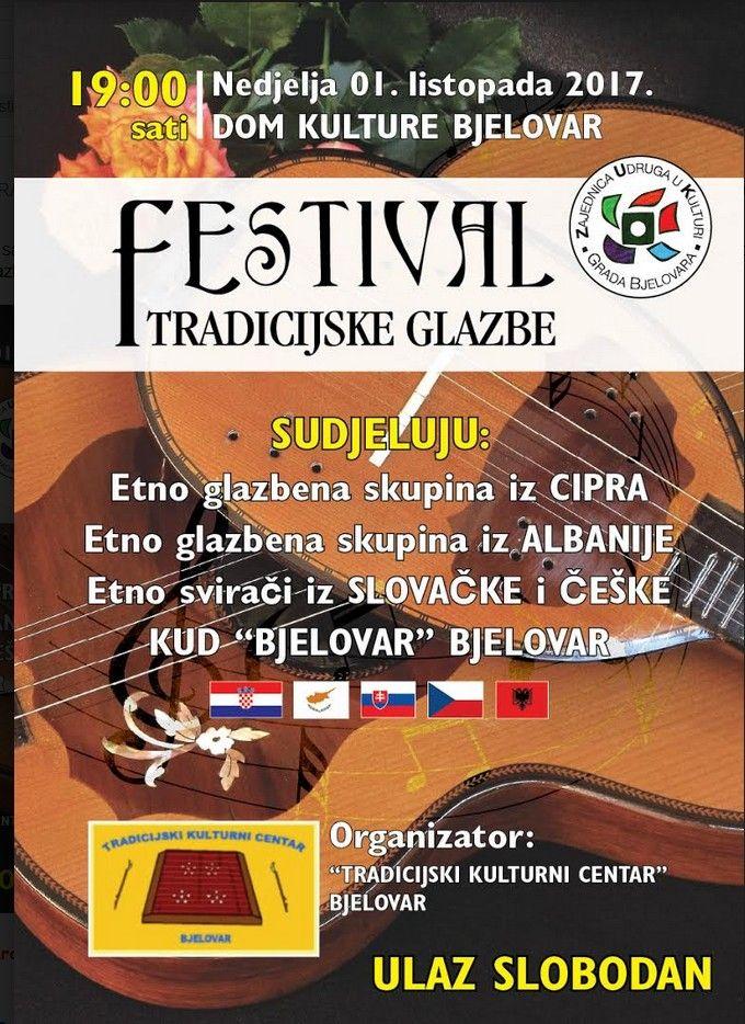 Festival tradicijske glazbe uz nastup glazbenih skupina iz Cipra, Albanije, Češke i Slovačke