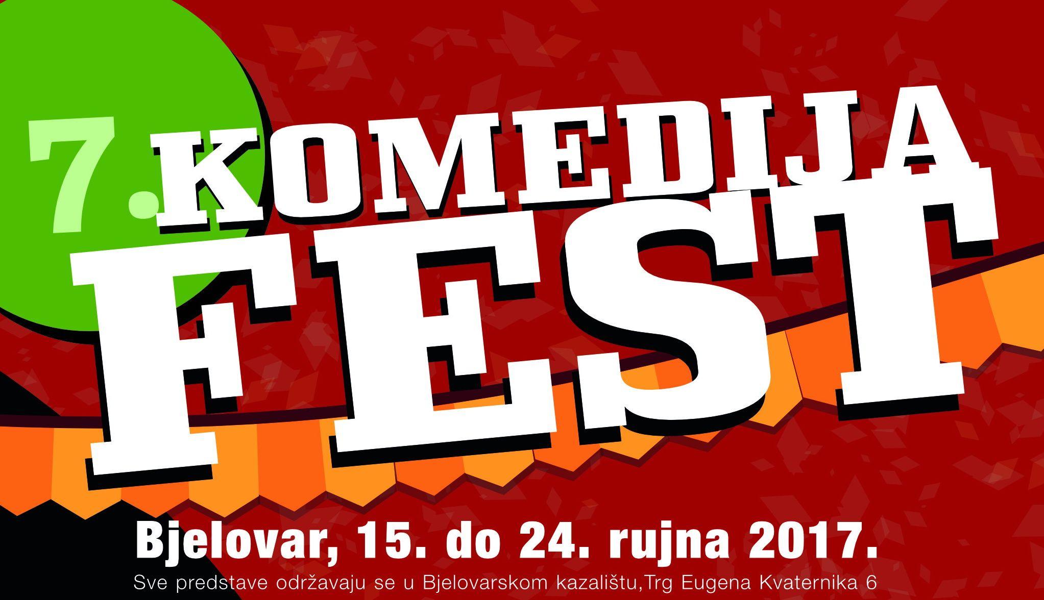 Komedija fest u Bjelovaru održat će se od 15. do 24. rujna 2017.