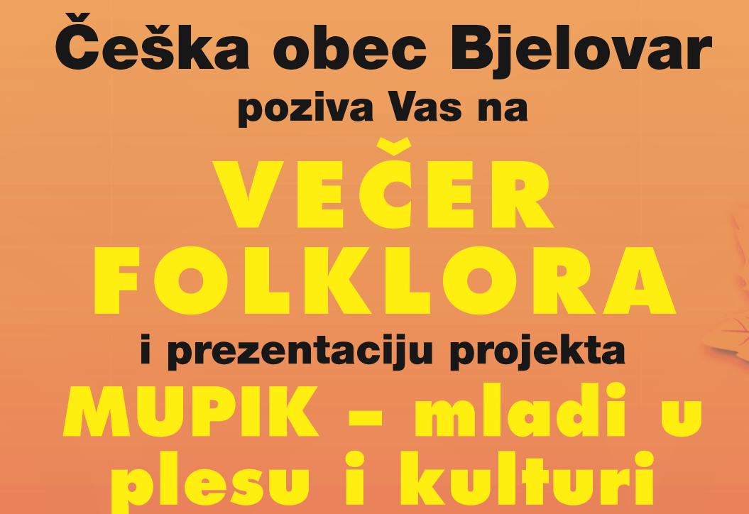 Večer folklora u organizaciji Češke obec Bjelovar