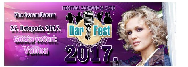DARFEST 2017. - 12. Festival zabavne glazbe, novih zvijezda i hitova u Daruvaru