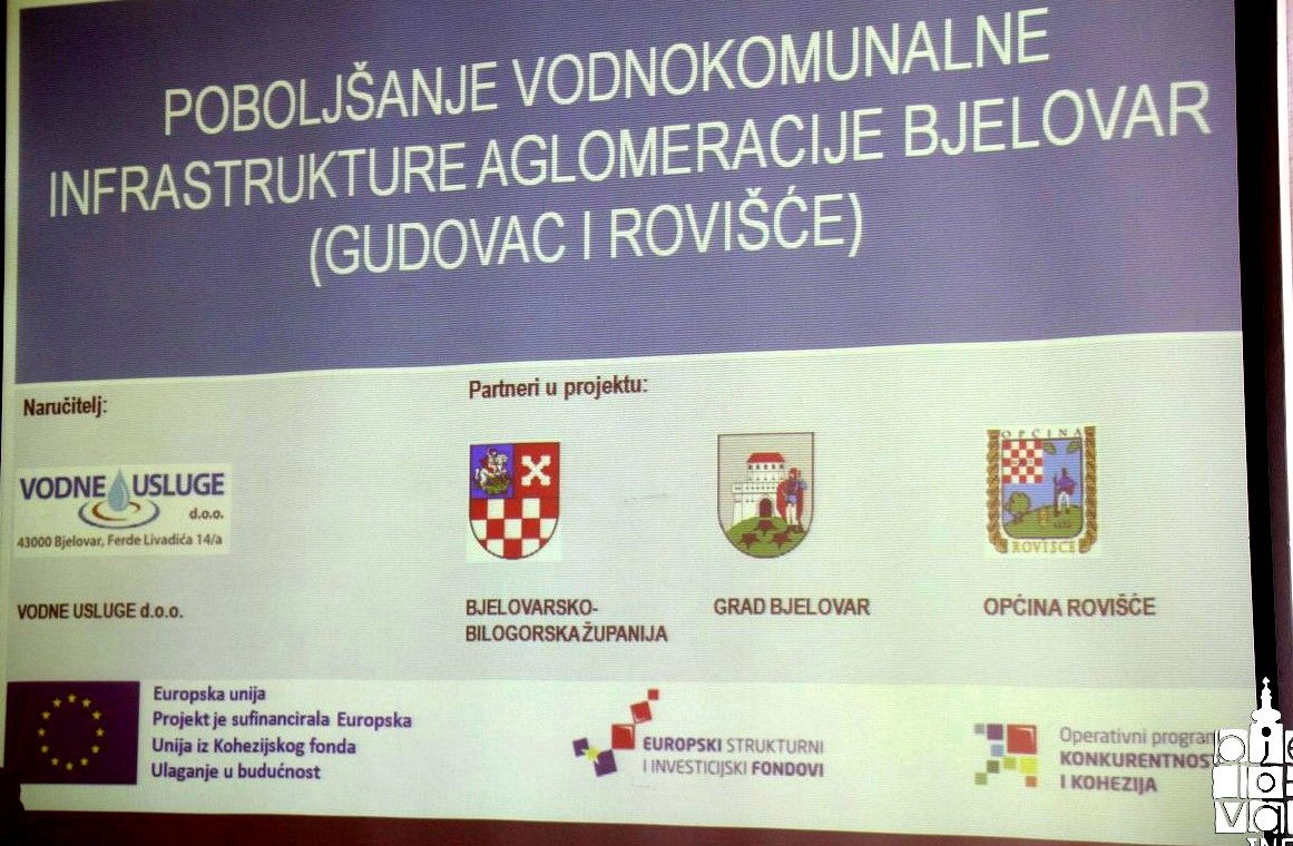 """Početkom iduće godine kreće provedba projekta """"Poboljšanje vodno-komunalne infrastrukture aglomeracije Bjelovar"""" težak 200 milijuna kuna, skoro u cijelosti financiran europskim novcem"""