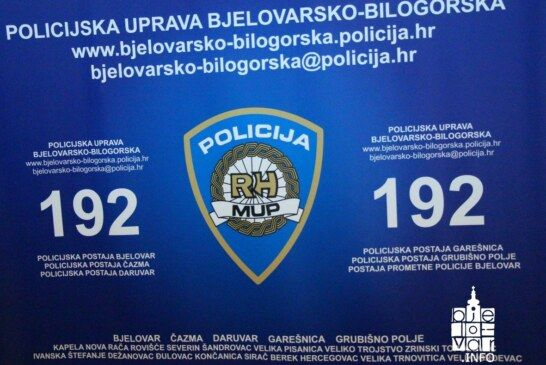 Nova tjedna informacija iz PU bjelovarsko-bilogorske od 27. studenog do 03. prosinca 2017. godine
