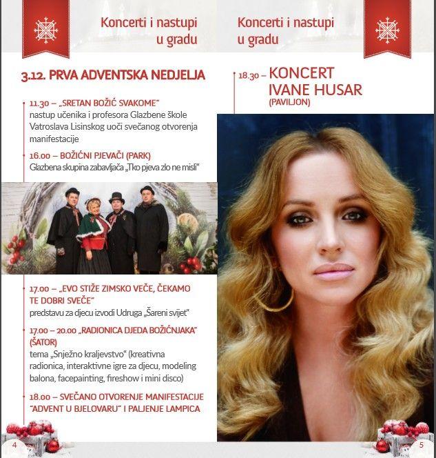 """""""Advent u Bjelovaru"""" počinje 3. prosinca 2017. paljenjem prve adventske svijeće u 18,00 sati"""