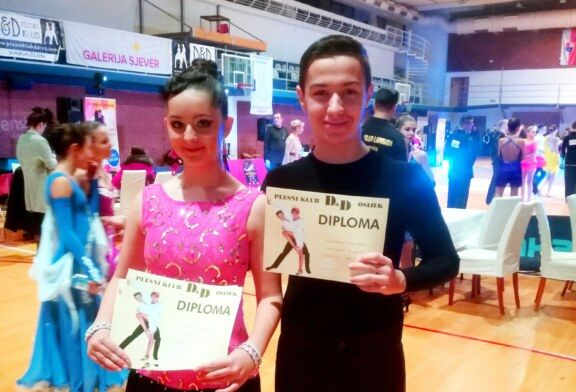 Bjelovarski plesni par Petar Klinac i Erna Sočec nastavljaju s natjecanjima