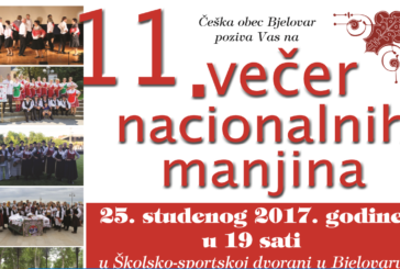 "U Gradu Bjelovaru najavljena manifestacija ""Večer nacionalnih manjina""  čiji je glavni pokrovitelj Grad Bjelovar"
