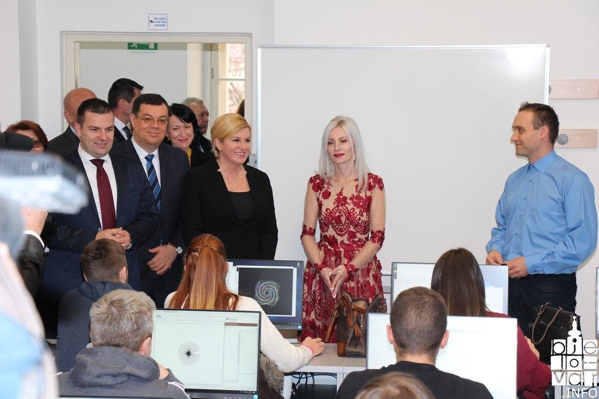 Predsjednica Kolinda Grabar-Kitarović posjetila Veleučilište u Bjelovaru