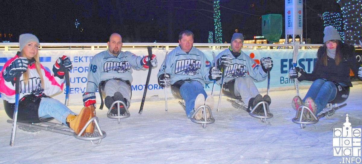 Na Bjelovarskom klizalištu održan hokej na sanjkama za osobe s invaliditetom