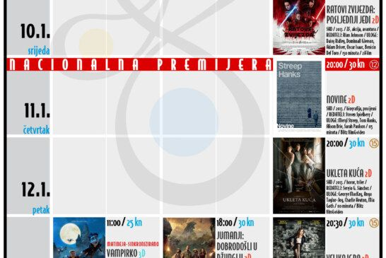 Bjelovarsko kino – TJEDNI RASPORED_KMCBj (9.-14.1.2017.)