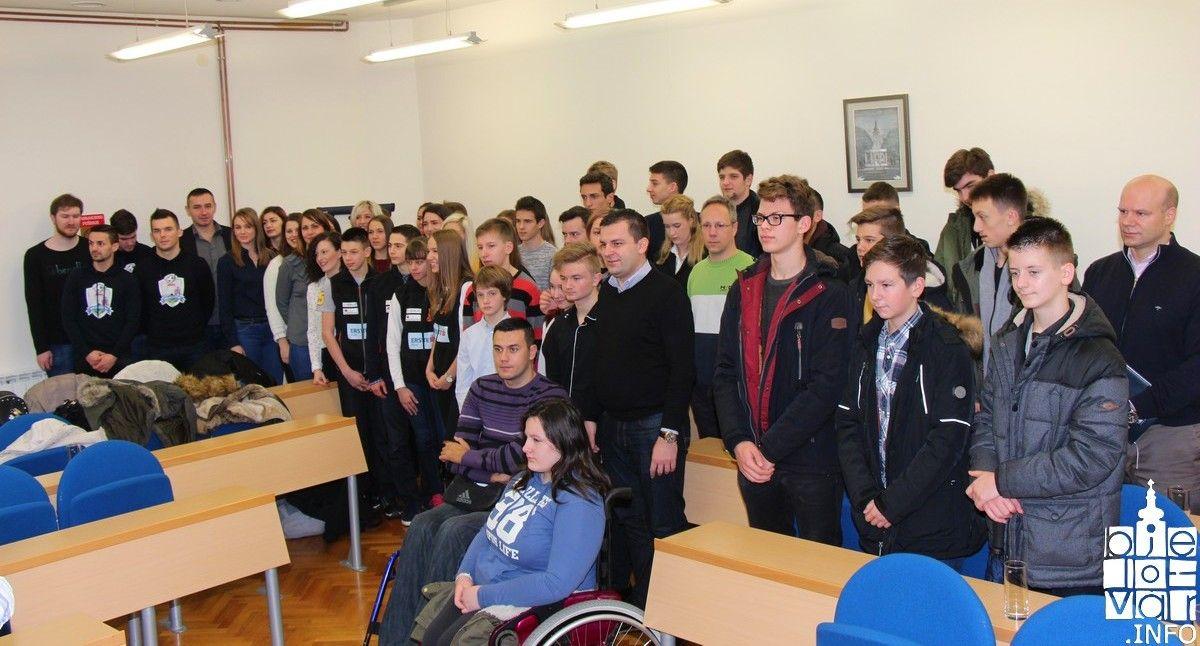 U Gradu Bjelovaru organiziran prijem za mlade Bjelovarčane koji su ostvarili uspješne rezultate