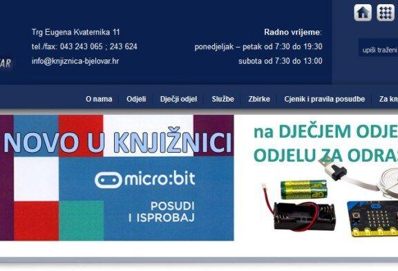 Među prvima u Hrvatskoj bjelovarska knjižnica nudi posudbu micro:bita