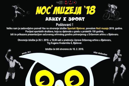 Noć muzeja u Državnom arhivu u Bjelovaru