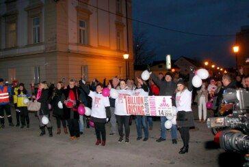 """U Bjelovaru svjetska kampanja protiv nasilja nad ženama """"Milijarda ustaje"""" pokazala veliko zajedništvo"""