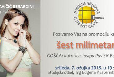 PROMOCIJA KNJIGE – ŠEST MILIMETARA Josipe Pavičić