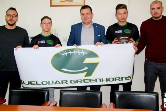 Gradonačelnik Hrebak organizirao prijem za članove Kluba američkog nogometa Bjelovar – Greenhorns
