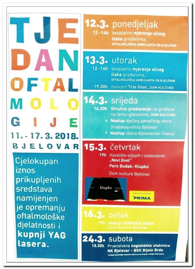 """U Bjelovaru se četvrti put po redu održava """"Tjedan oftamologije"""", organizatori priređuju bogat i nadasve koristan program"""