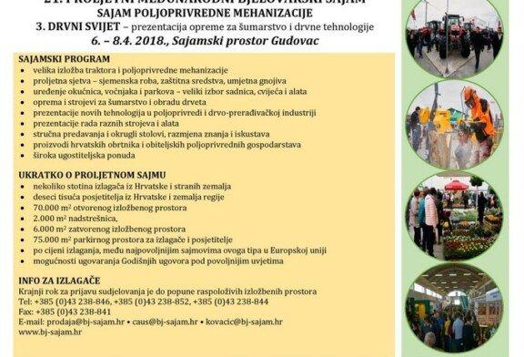 21. Proljetni međunarodni bjelovarski sajam i 3. Drvni svijet