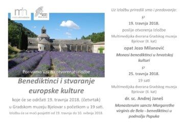 Izložba Benediktinci i stvaranje europske kulture u Gradskom muzeju Bjelovar