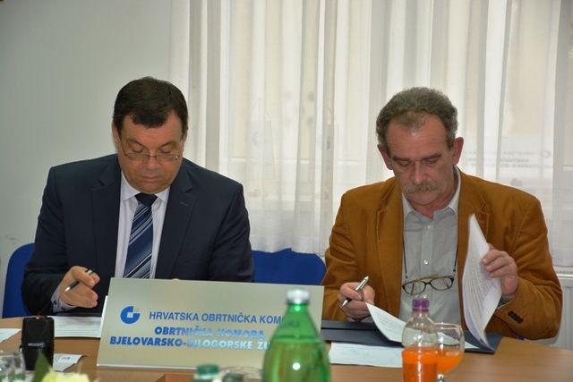 Župan Damir Bajs potpisao Sporazum o sufinanciranju projekata i aktivnosti Obrtničke komore BBŽ za 2018. godinu