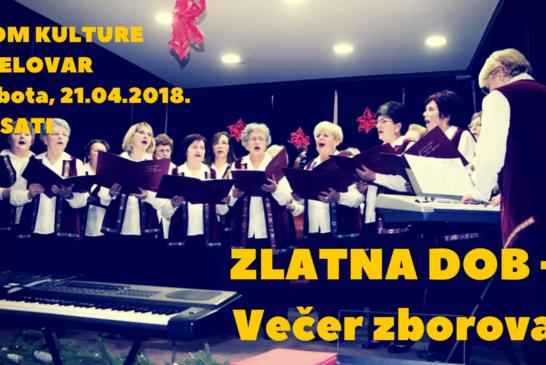 """Večer zborova """"Zlatna dob"""" u organizaciji Češke obec Bjelovar"""