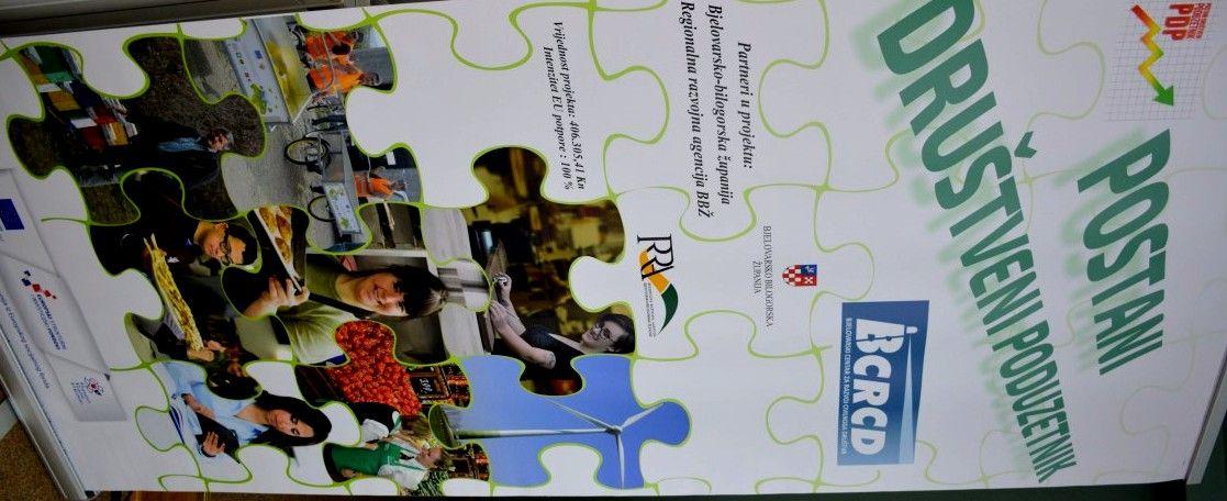 """U Bjelovarsko-bilogorskoj županiji predstavljen projekt """"Postani društveni poduzetnik"""""""