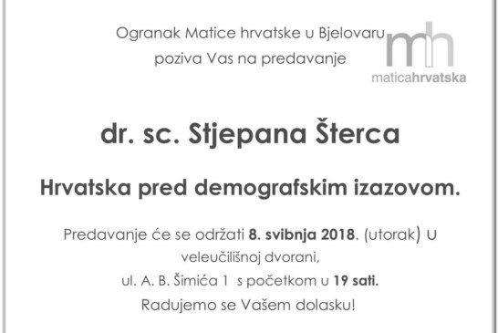 Stjepan Šterc: Hrvatska pred demografskim izazovom