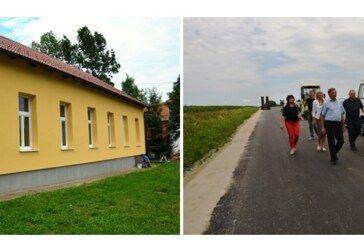 Župan Bajs obišao radove na obnovi škole u Međurači i radove na obnovi prometnice Nova Rača-Slovinska Kovačica
