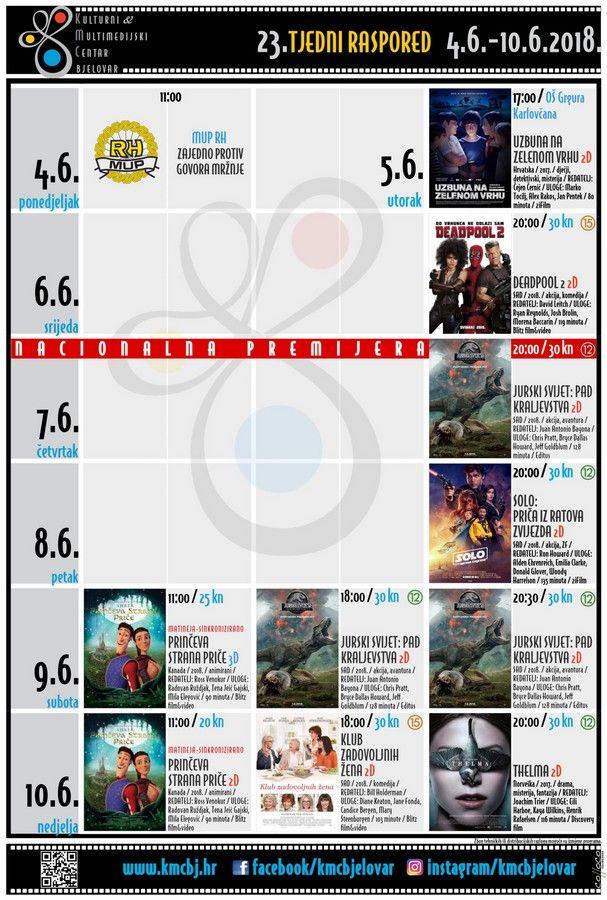 Bjelovarsko kino – TJEDNI RASPORED_KMCBj (4.6.-10.6.2018.)