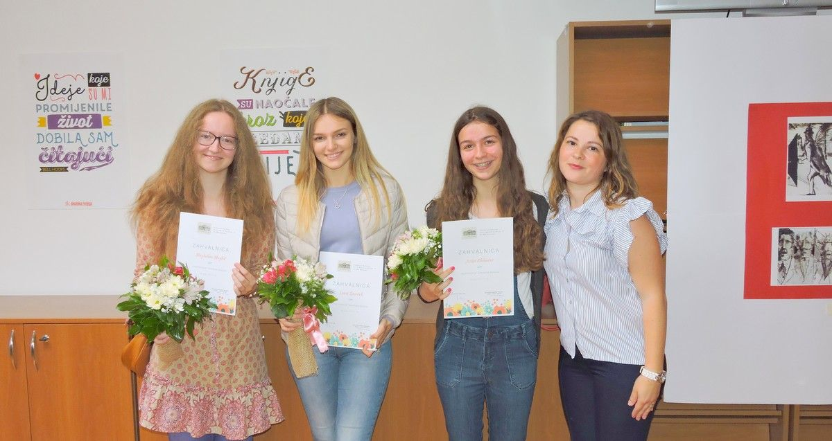Dodijeljene nagrade i priznanja najčitateljima bjelovarskih srednjih škola